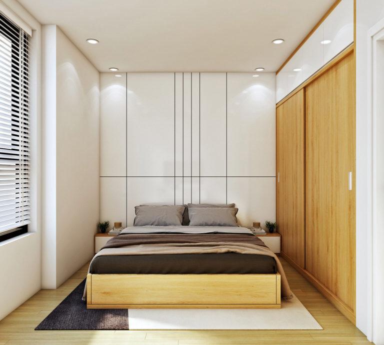 Phòng ngủ căn hộ bcons garden dĩ an