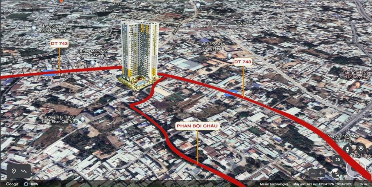 vị trí căn hộ căn hộ bcons sala
